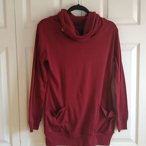 Maroon light weight tunic shirt size medium
